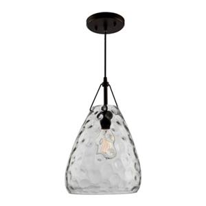 Artcraft Lighting Artisan Collection 9.5-in x 16-in Oil-Rubbed Bronze Teardrop Mini Pendant Light