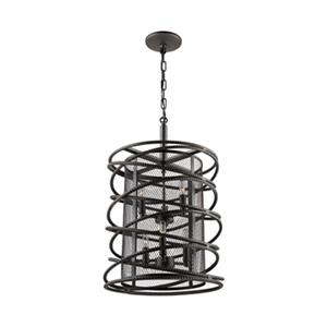 Artcraft Lighting Rebar Studio Collection 14.5-in x 23.25-in Dark Java Brown Cage 6-Light Chandelier