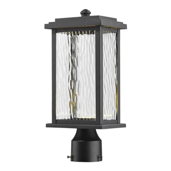 Artcraft Lighting Sussex Outdoor LED Black Post Mount Light