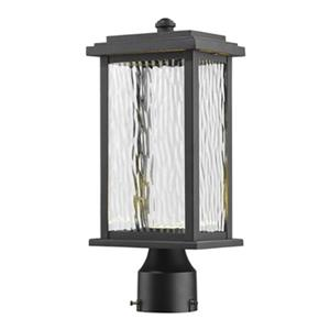 Artcraft Lighting Sussex Outdoor LED Black Post Mount Light