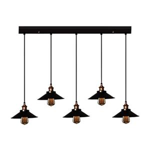Warehouse of Tiffany Hollie Adjustable Cord 5-Light Kitchen Island Light