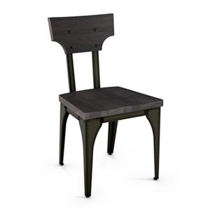 Amisco Station 33.25-in x 18-in Black Metal Dining Chair (Set of 2)