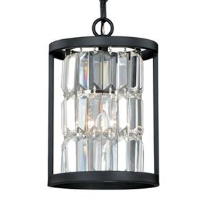 Cascadia Catana 7-in Crystal and Bronze Cage Mini Pendant Ceiling Light