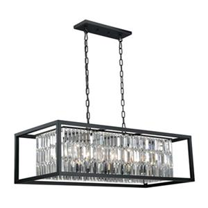 Cascadia Catana 8-Light Crystal Bronze Chandelier Island Pendant Light