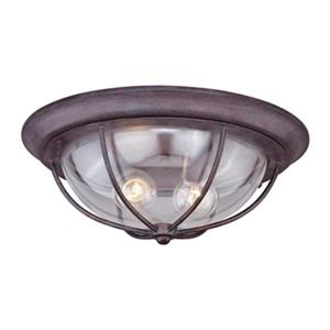 Cascadia Lighting Dockside Brown Outdoor Flush Mount Ceiling Light
