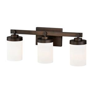 Cascadia Sorin 3-Light Bronze Bathroom Vanity Fixture