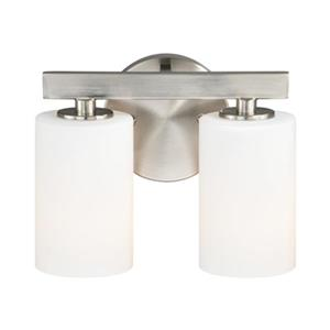 Cascadia Glendale 2-Light Nickel Bathroom Vanity Fixture