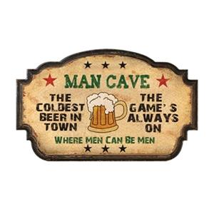 RAM Game Room Products Man Cave Coldest Beer in Town Sign