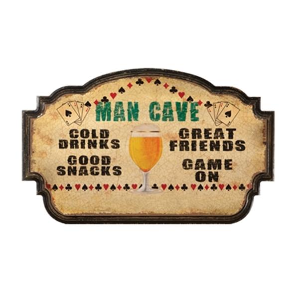 RAM Game Room Man Cave Cold Drinks Good Snacks Sign