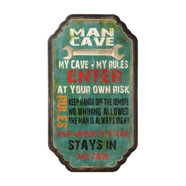 RAM Game Room My Cave Rules Sign