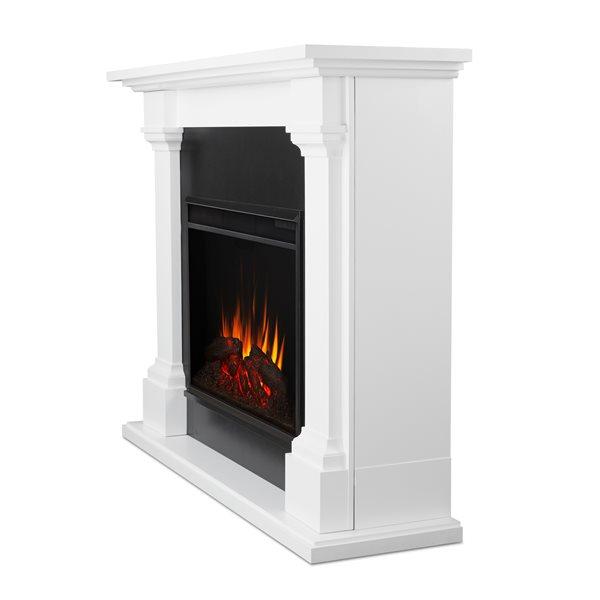 Foyer électrique Callaway de Real Flame, 5 100 BTU, blanc