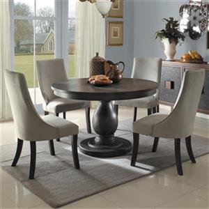 Homelegance Dandelion Distressed Taupe 5-Piece Dining Set