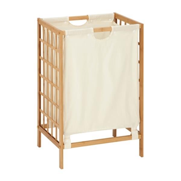 Honey Can Do Bamboo Grid Frame Hamper