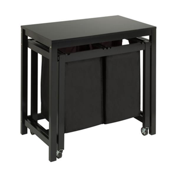 Honey Can Do Black Double Sorter Folding Table