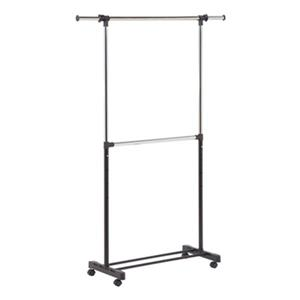 Honey Can Do GAR-01767 Dual Rod Expandable Garment Rack,GAR-