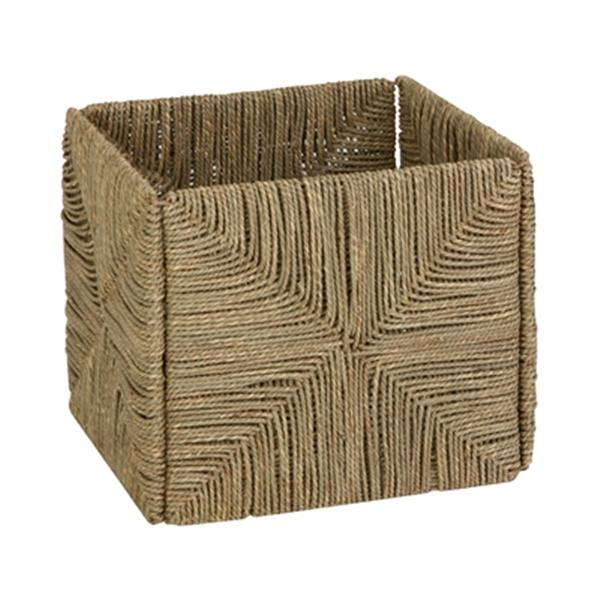 Honey Can Do 10.60-in x 10.60-in Folding Sea Grass Basket