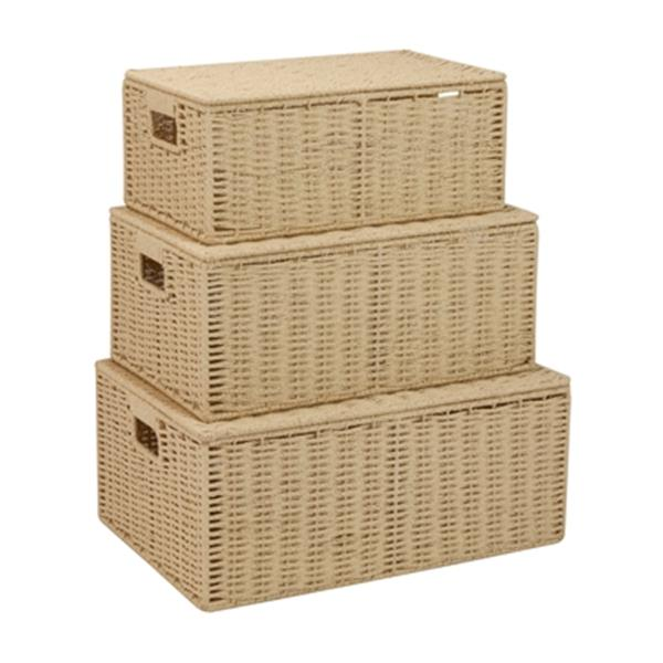 Honey Can Do Natural Parchment Cord Basket Set