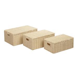 Honey Can Do Natural Parchment Cord Basket Set