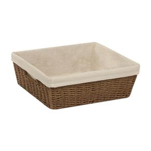 Honey Can Do 5-in x 13-in Brown Parchment Cord Crate with Liner