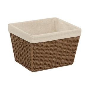 Honey Can Do 8-in x 10-in Brown Parchment Cord Crate with Liner