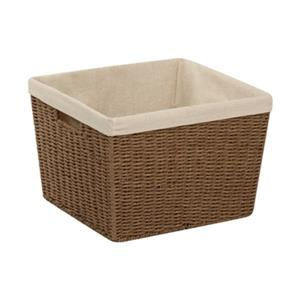 Honey Can Do 10-in x 13-in Brown Parchment Cord Crate with Liner