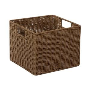 Honey Can Do 10-in x 12.20-in Brown Parchment Cord Crate