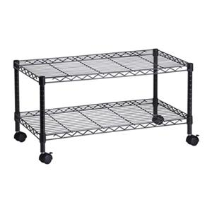 Honey Can Do 19.50-in Black 2-Tier Media Cart
