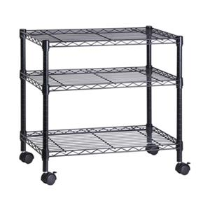 Honey Can Do 26-in Black 2-Tier Media Cart