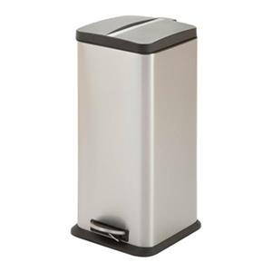 Honey Can Do Stainless Steel Square 30L Step Trash Can