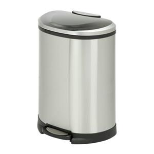 Honey Can Do Stainless Steel Half Moon 50L Step Trash Can