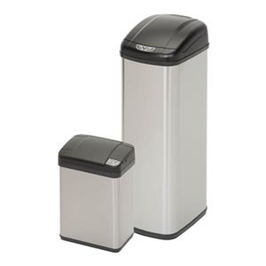 Honey Can Do Stainless Steel Square Sensor 52L+12L  Trash Can Combo