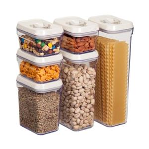 Honey Can Do Locking Lid Storage Jar Set (6 Pieces)