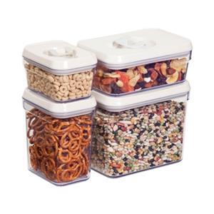 Honey Can Do Locking Lid Storage Jar Set (4 Pieces)