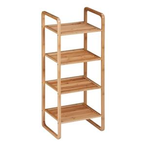 Honey Can Do 11.81-in x 14.57-in x 36.42-in 4-Tier Bamboo Accessory Shelf