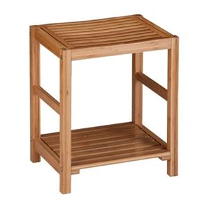 Honey Can Do 12.6-in x 16.54-in x 19.69-in Bamboo Spa Bench