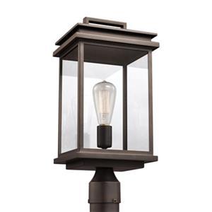 Feiss Glenview Antique Bronze Outdoor Prairie Post Lantern