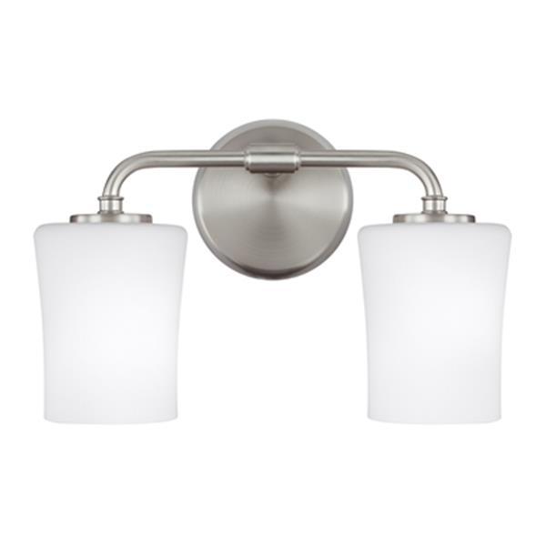 Feiss Jennie Satin Nickel 2-Light Bathroom Vanity Light