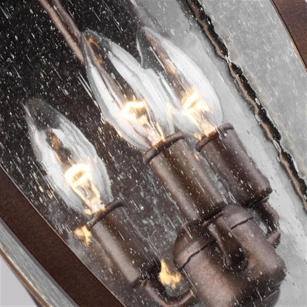 Feiss Oakmont 3-Light Patina Bronze Outdoor Wall Lantern