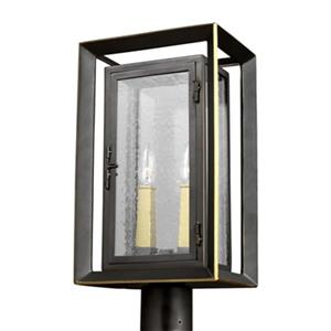 Feiss Urbandale 2-Light Antique Bronze Outdoor Post Lantern