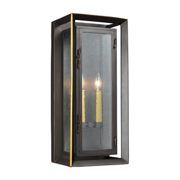 Feiss Urbandale 2-Light Bronze Outdoor Wall Lantern