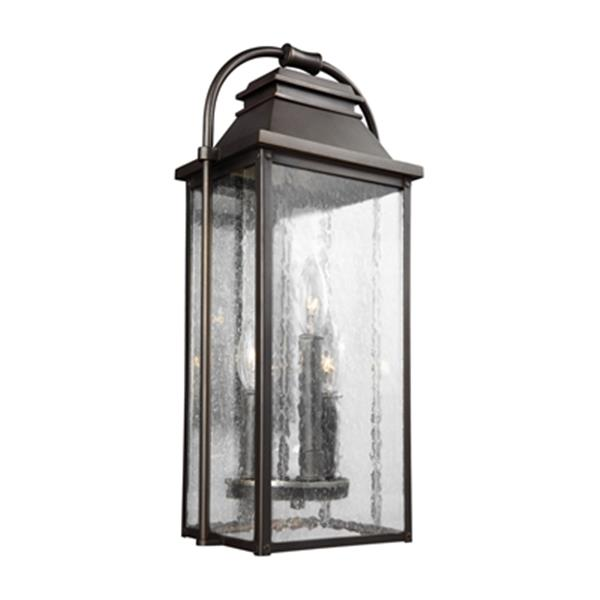 Feiss Wellsworth 3-Light Bronze Outdoor Wall Lantern