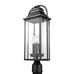 Feiss Wellsworth 3-Light Antique Bronze Post Lantern.