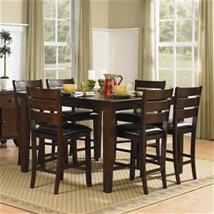 Homelegance Ameillia Dark Oak 7-Piece Counter Height Dining Set