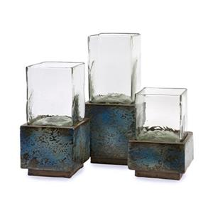 IMAX Worldwide Cubo Terracotta Hurricanes (Set of 3)