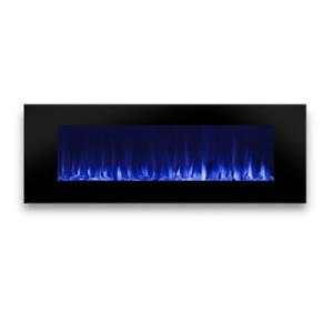 "Real Flame DiNatale Wall-Mounted Electric Fireplace-17.8"" x 50"" -Black"