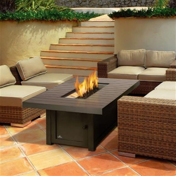 St. Tropez Propane/Natural Gas Patioflame Table - Bronze