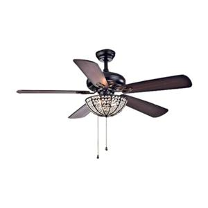Warehouse of Tiffany Hannele 52-in Black 3-Light Ceiling Fan