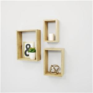 Nexxt Design Nesting Tan 3-Piece Wall Shelf
