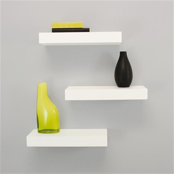 Nexxt Design Maine 12-in White Floating Ledge Decorative Wall Shelf (3 Pack)