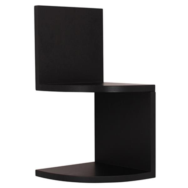 Nexxt Design Priva Black Corner Shelves (Set of 4)